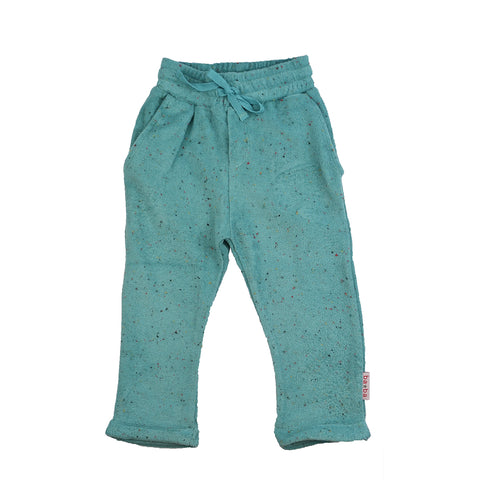 Baba Babywear - Baggy Pants Speckled Terry Aqua  - Badstof