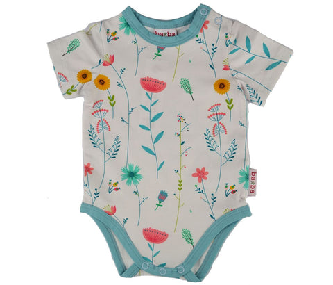 Baba Babywear - Short Sleeve Body Flowers