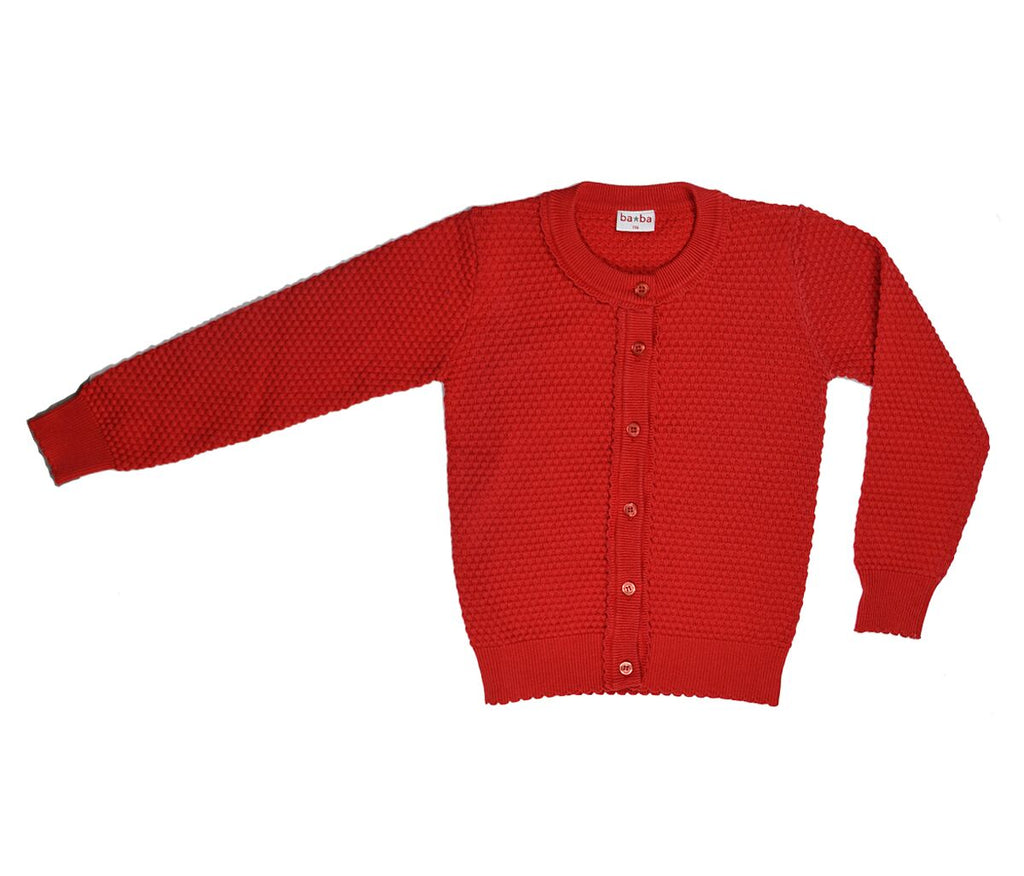 Baba Babywear - Vestje Girls Rood Cardigan Red