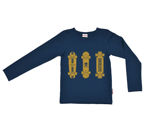 Baba Babywear - Longsleeve Dark Blue Skatebords