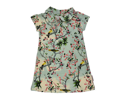 Baba*Babywear Dress Yellow Bird Polojurk Gele Vogels
