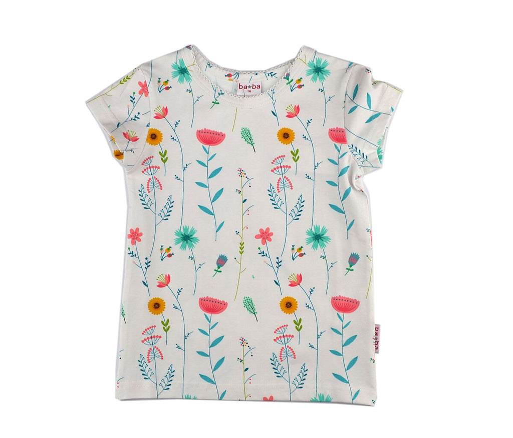 Baba Babywear - T-Shirt White Flowers