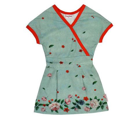 Baba*Babywear Dress Wrap Chinese Flowers Overslagjurk Chinese Bloemen