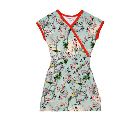 Baba*Babywear Dress Wrap Yellow Bird Overslagjurk Gele Vogels