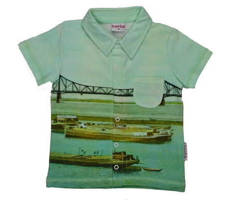 Baba Babywear - T-Shirt POLO Boat and Bridge