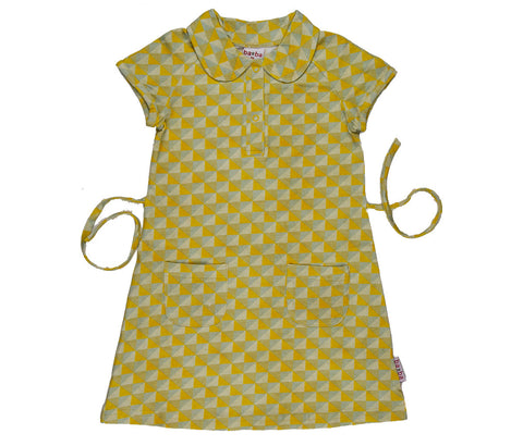 Baba Babywear - Polo Dress Yellow Triangle