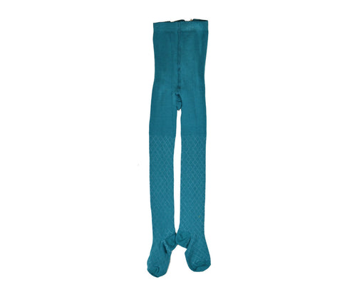 Baba Babywear - Maillot Petrol/Turquoise met ruitje Petrol/Turquoise Tights