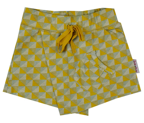Baba Babywear - Skorts(broekrokje) Yellow Triangles