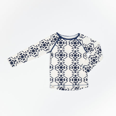Alba of Denmark - Ghita Blouse Blueprint Nostalgic Flowerprints