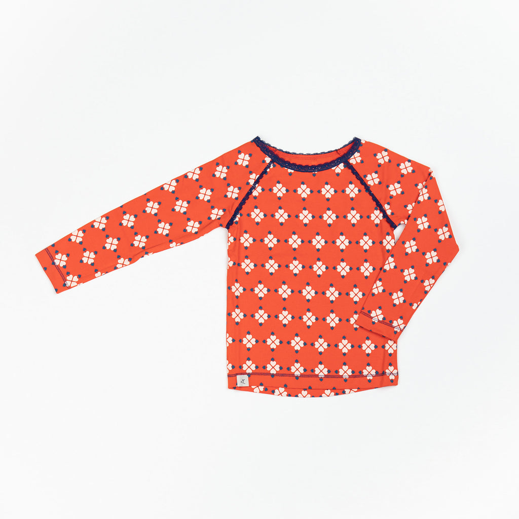 Alba of Denmark - Ghita Blouse Cherry Tomato Heartbreak Love