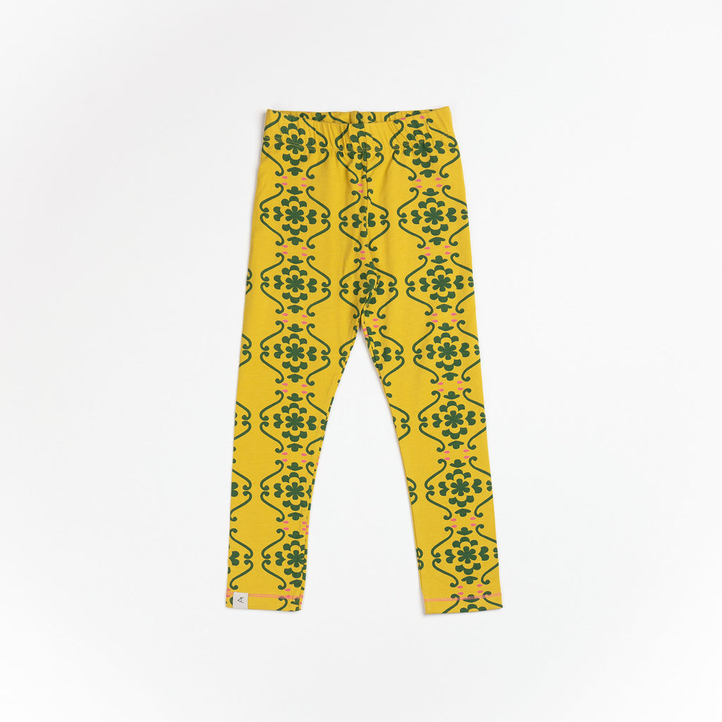 Alba of Denmark - Haniella Leggings Ceylon Yellow Nostaltic Flowertiles