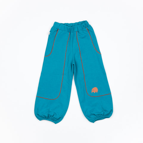 Alba of Denmark - Hobo Baggy Pants Blue Atoli