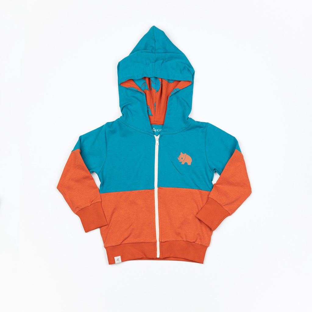 Alba of Denmark - Alfie Zipper Hood Blue Atoll