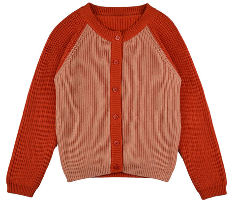 Baba Babywear - Cardigan Girls Bicolor Red Pink