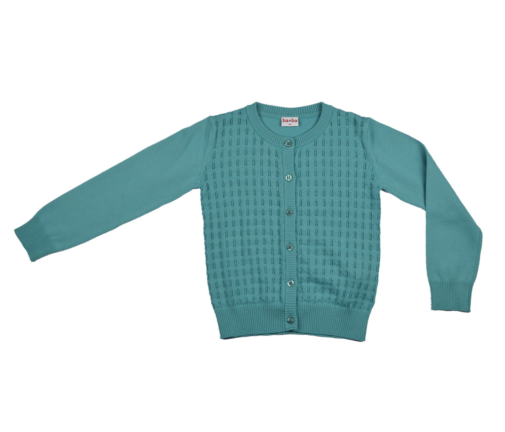 Baba Babywear - Vestje Porcelein Blauw Cardigan Light Blue
