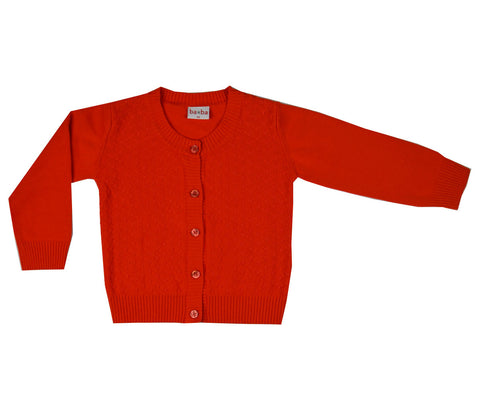 Baba Babywear - Vestje Rood Summer Cardigan Red Girl