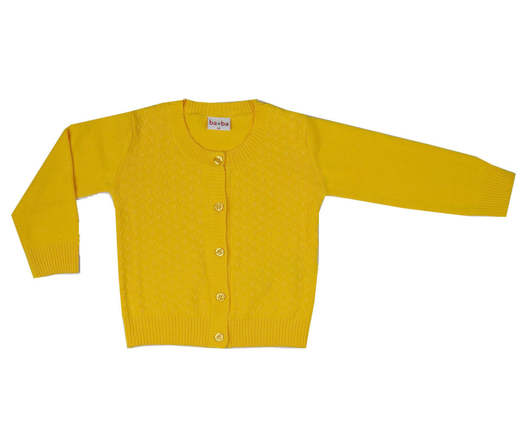 Baba Babywear - Vestje Geel Summer Cardigan Yellow Girl