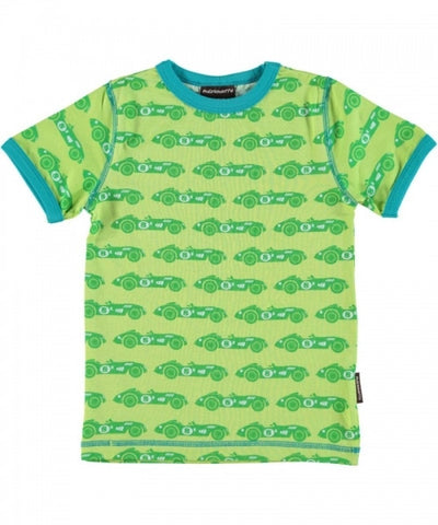 Maxomorra Top SS T-Shirt Car Green
