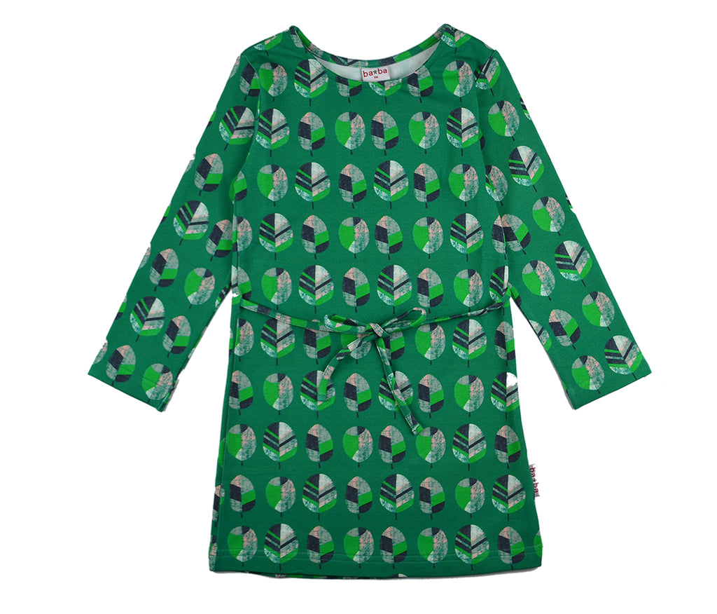 Baba Babywear - Dress Longsleeve Leaf Green