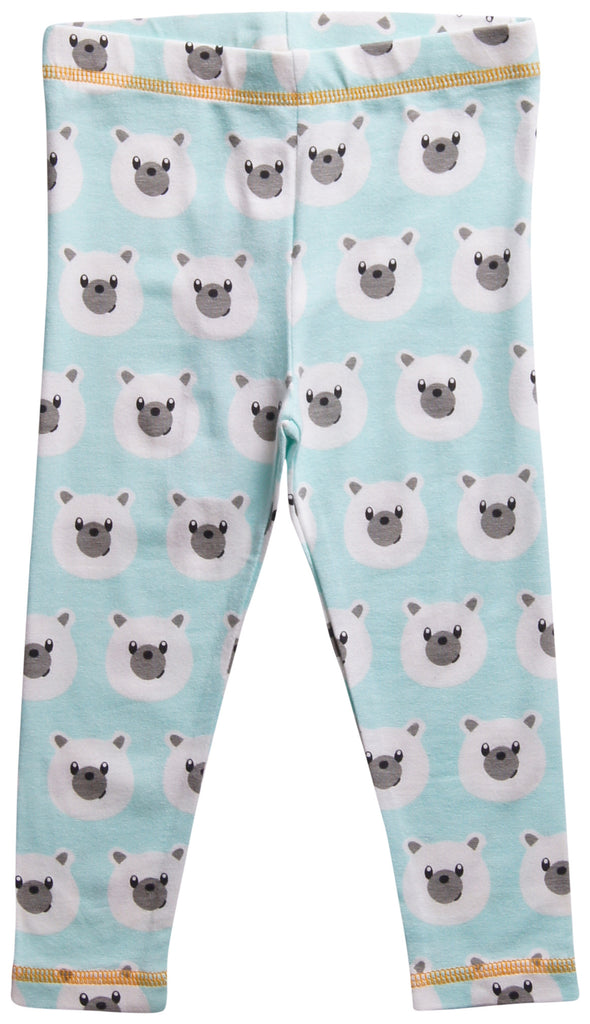 Maxomorra Tights BABY Legging Blue Polar Bear Ijsbeer