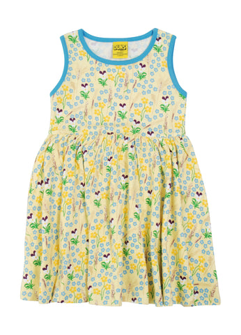 Duns Sweden - Gather Dress Meadow Yellow - Zwier Jurk Bloemenweide Geel