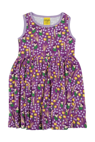 Duns Sweden ADULT Dress Gather Skirt Meadow Purple - Jurk Bloemenweide Paars