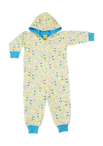 Duns Sweden - Hooded Suit Meadow Yellow - Onesie Bloemenweide Geel