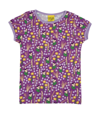 Duns Sweden - T-shirt Meadow Purple - Shirtje Bloemenweide Paars
