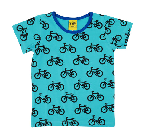 More Than A Fling T-Shirt Bike Turquoise - Fiets