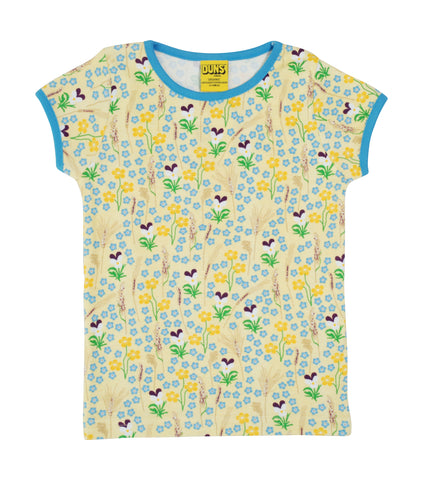 Duns Sweden - T-shirt Meadow Yellow - Shirtje Bloemenweide Geel