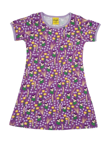 Duns Sweden - Shortsleeve Dress Meadow Purple - Jurk Weidebloemen Paars