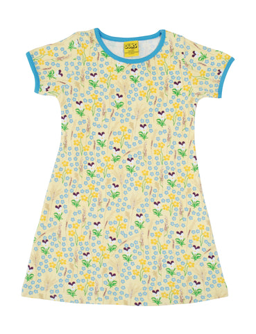 Duns Sweden - Shortsleeve Dress Meadow Yellow - Jurk Weidebloemen Zacht Geel