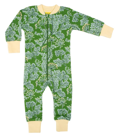 Duns Sweden - Zipsuit Dill Cactus Green Slaappak Dille Groen