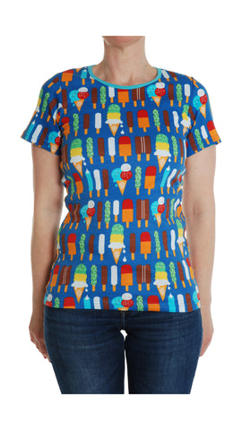 Duns Sweden ADULT T-Shirt Icecream Blue - Shirtje Blauw met IJsjes