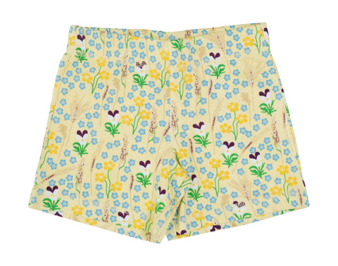 Duns Sweden - Shorts Meadow Yellow - Korte Broek Bloemenweide Geel