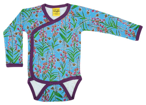 Duns Sweden - Wrap Body Willowherb Blue Kimono/Overslag Romper
