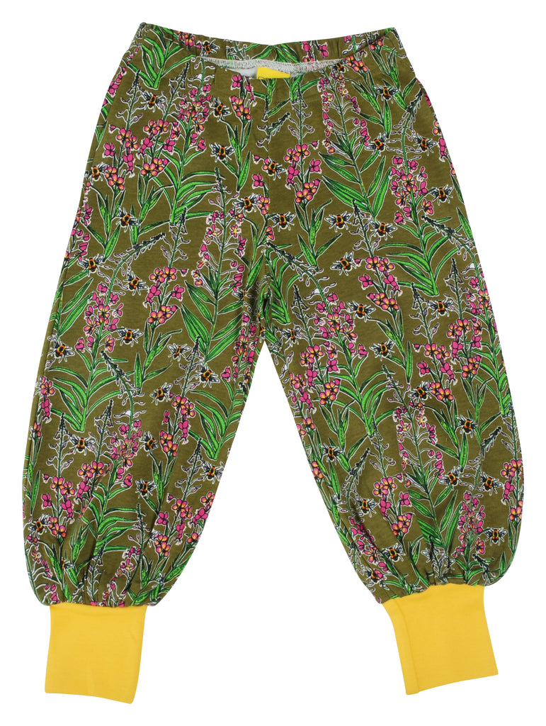 Duns Sweden - Baggy Pants Willowherb Olive - Lange Pof Broek Wilgenroosjes