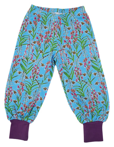 Duns Sweden - Baggy Pants Willowherb Blue - Lange Pof Broek Wilgenroosjes