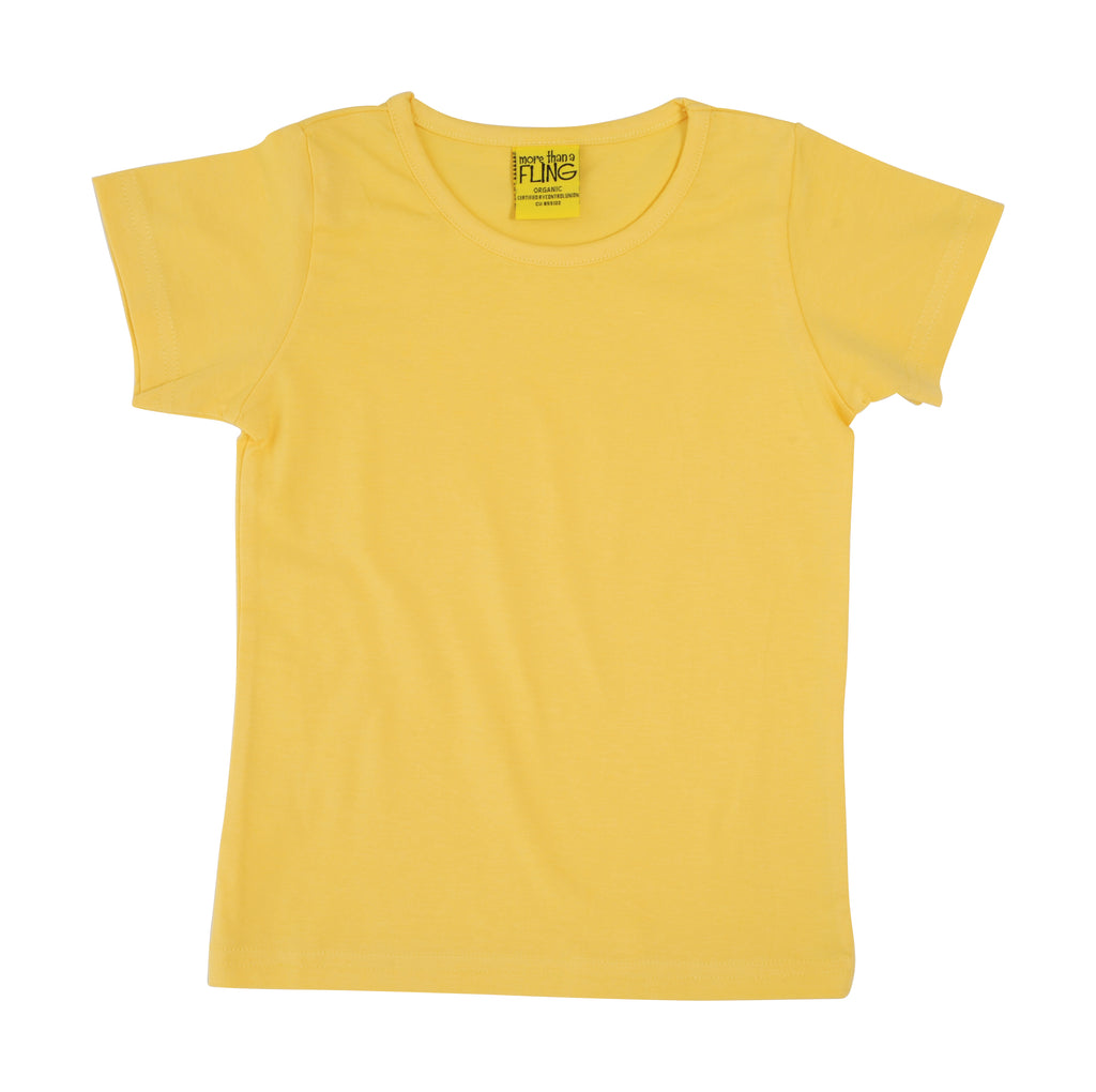 More Than A Fling T-Shirt Banana Yellow - Zacht Geel