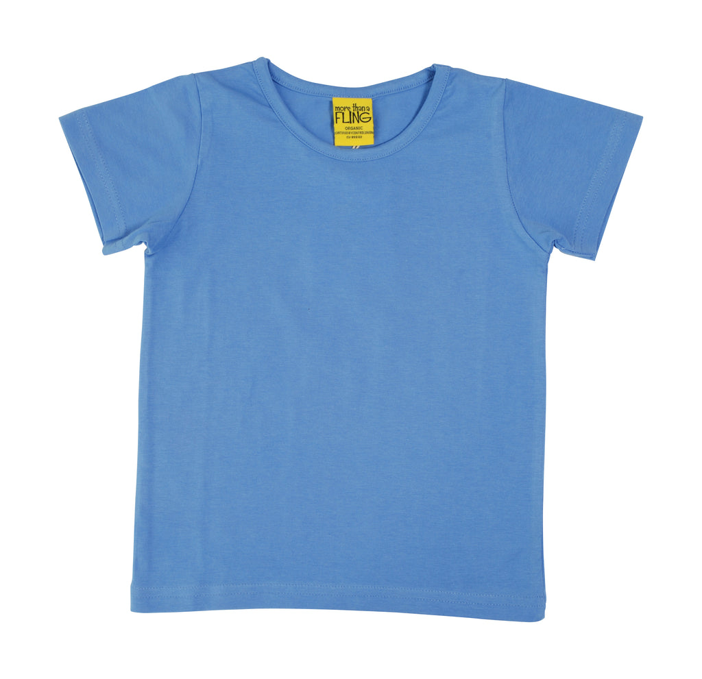 More Than A Fling T-Shirt Corn Flower Blue - Korenbloem Blauw T-shirt