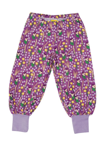 Duns Sweden - Baggy Pants Meadow Purple - Lange Pof Broek Bloemenweide Paars