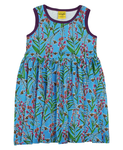 Duns Sweden - Sleeveless Dress Willowherb Blue - Zwierjurk Wilgenroosjes
