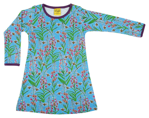Duns Sweden - Longsleeve Dress Willowherb Blue