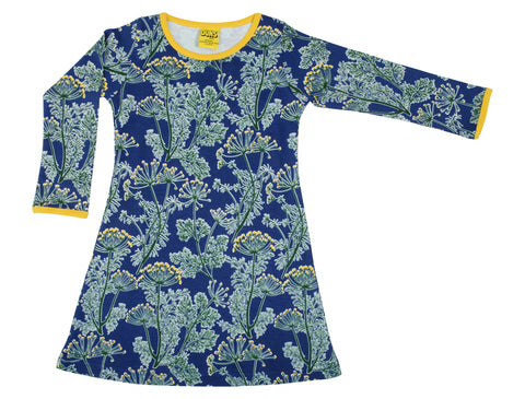 Duns Sweden - Longsleeve Dress Dill Deep Marine Blue
