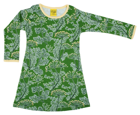 Duns Sweden - Longsleeve Dress Dill Cactus Green
