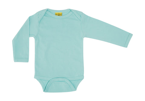 More Than A Fling Body Eggshell Blue - Romper Lange Mouw Eischil Blauw