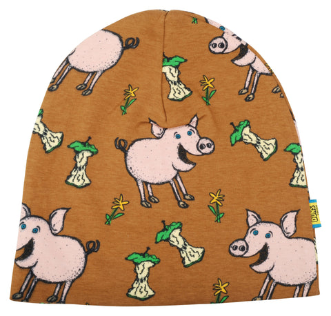 Duns Sweden - Beanie Dubbellaags Muts Pig Brown