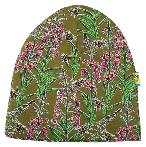 Duns Sweden - Beanie Dubbellaags Muts Willowherb Olive Wilgenroosje