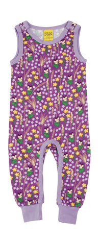 Duns Sweden - Playsuit Meadow Purple - Mouwloos Pak Bloemenweide Paars