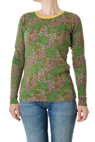 Duns Sweden ADULT Longsleeve Willowherb Green - Lange Mouw Shirt Wilgenroosjes